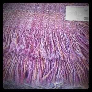 Kennebunk Weavers Woven Fringe Throw Blanket NWT